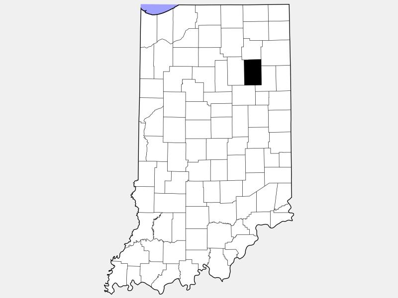 Huntington County locator map