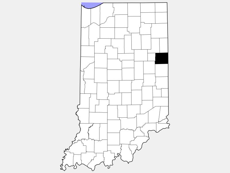 Jay County locator map