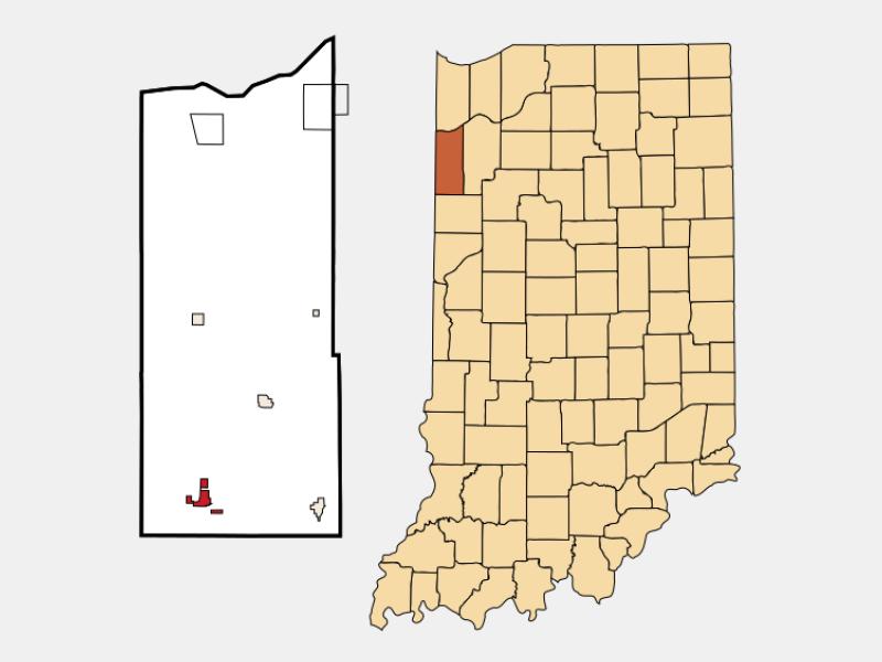 Kentland location map