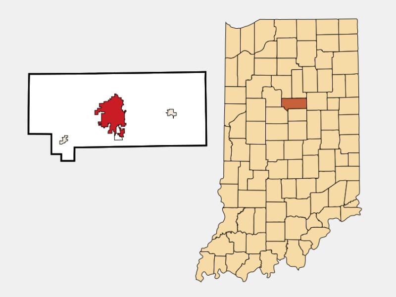Kokomo locator map