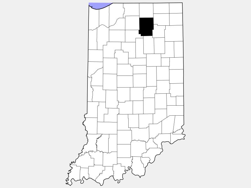 Kosciusko County locator map