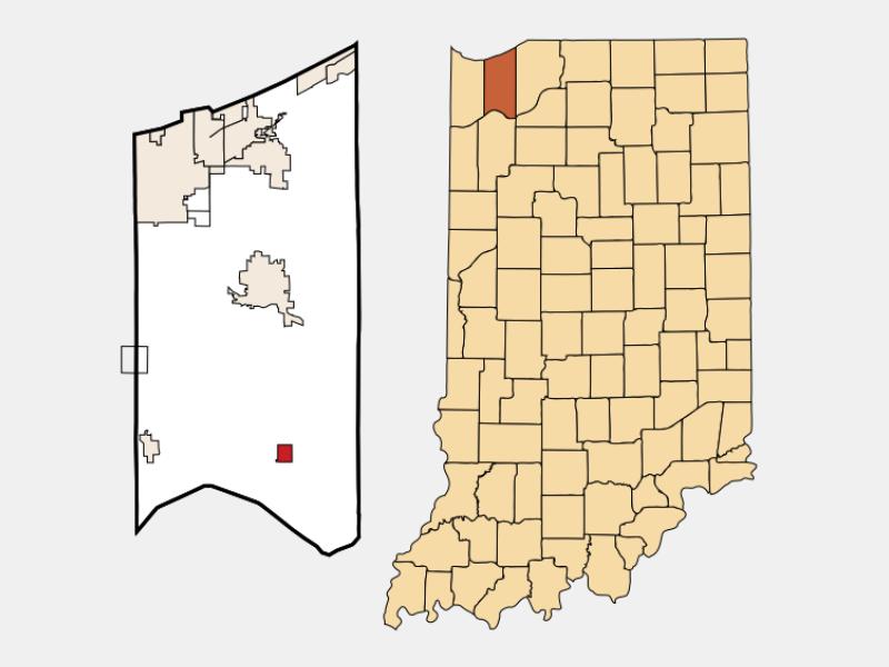 Kouts locator map