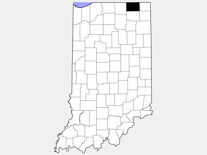 LaGrange County locator map