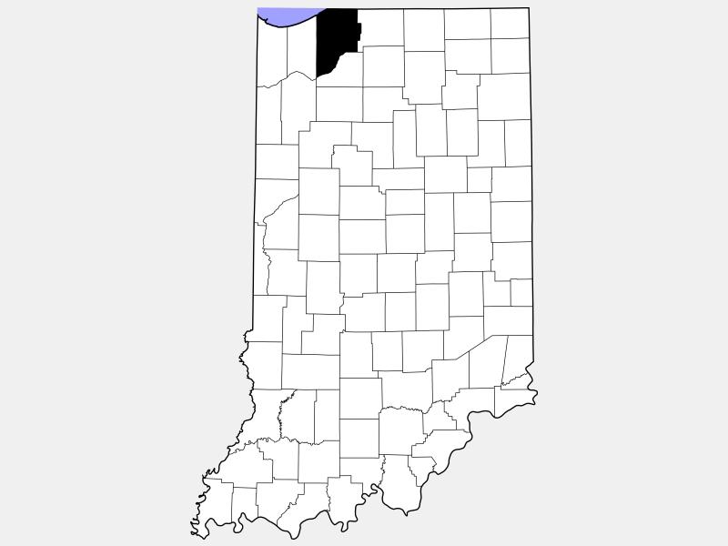 LaPorte County locator map