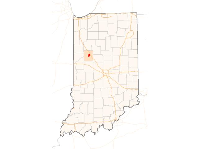 Lafayette locator map