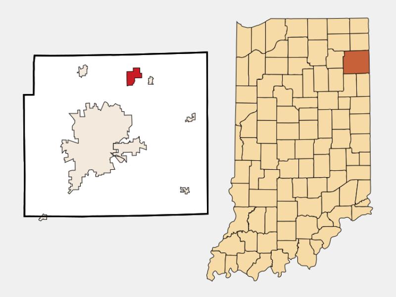 Leo-Cedarville locator map