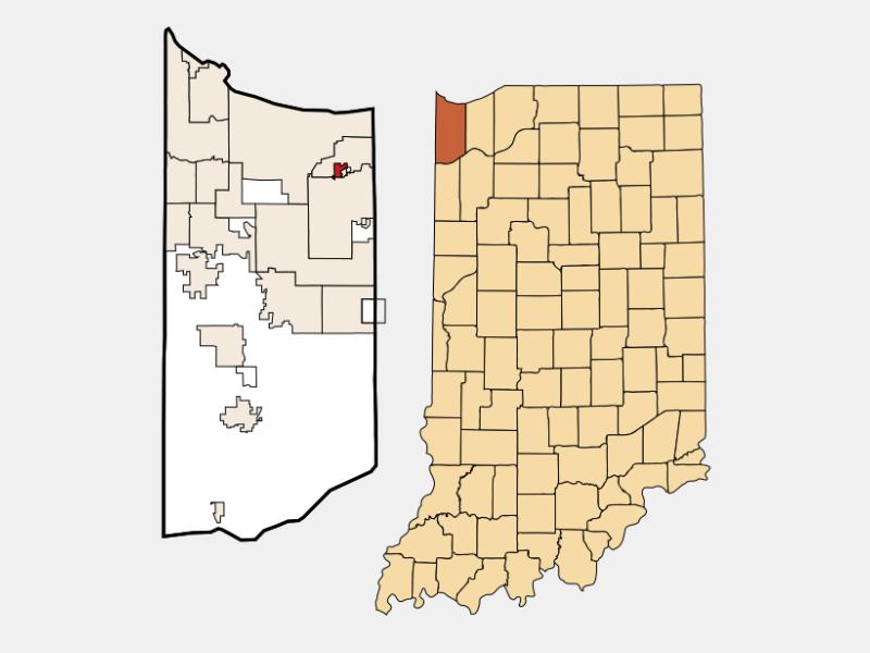 New Chicago locator map