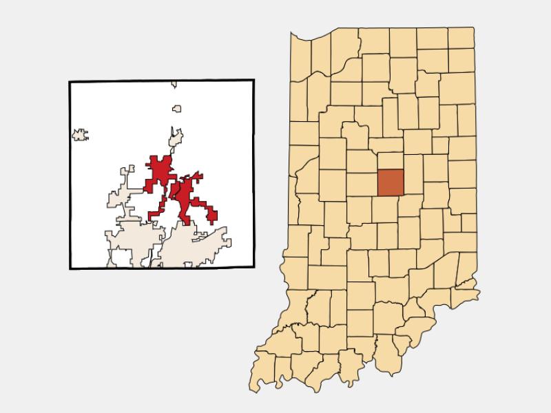 Noblesville locator map
