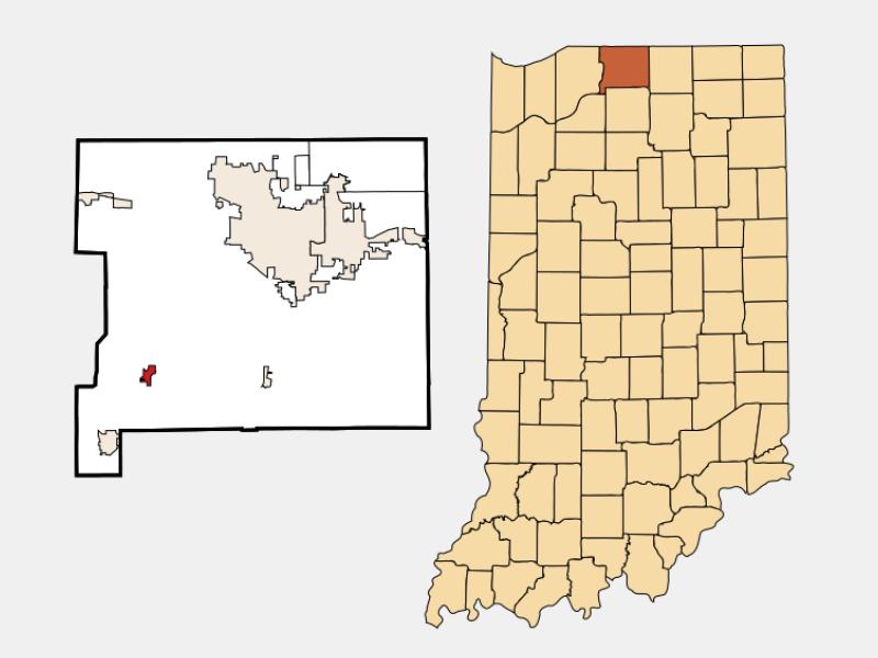 North Liberty locator map