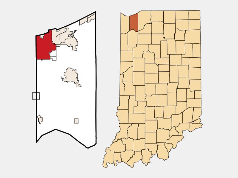 Portage location map