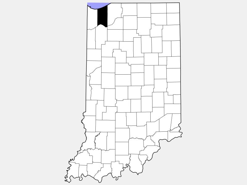 Porter County locator map