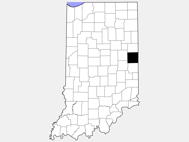 Randolph County locator map