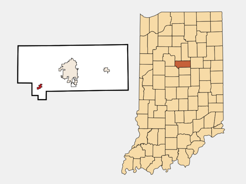 Russiaville locator map