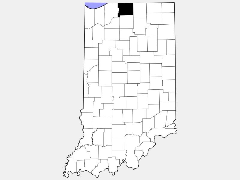 Saint Joseph County locator map
