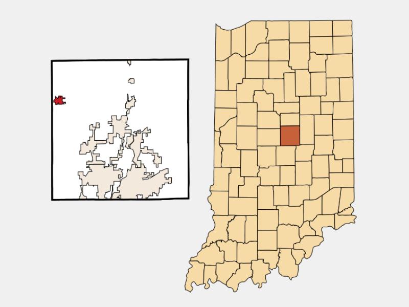 Sheridan locator map