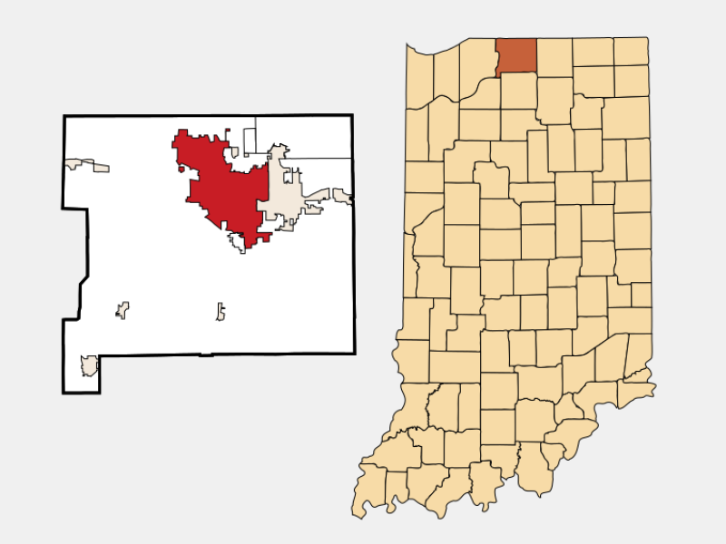 South Bend locator map
