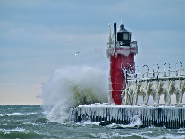 South Pier Lighthouse at South Haven  MI image
