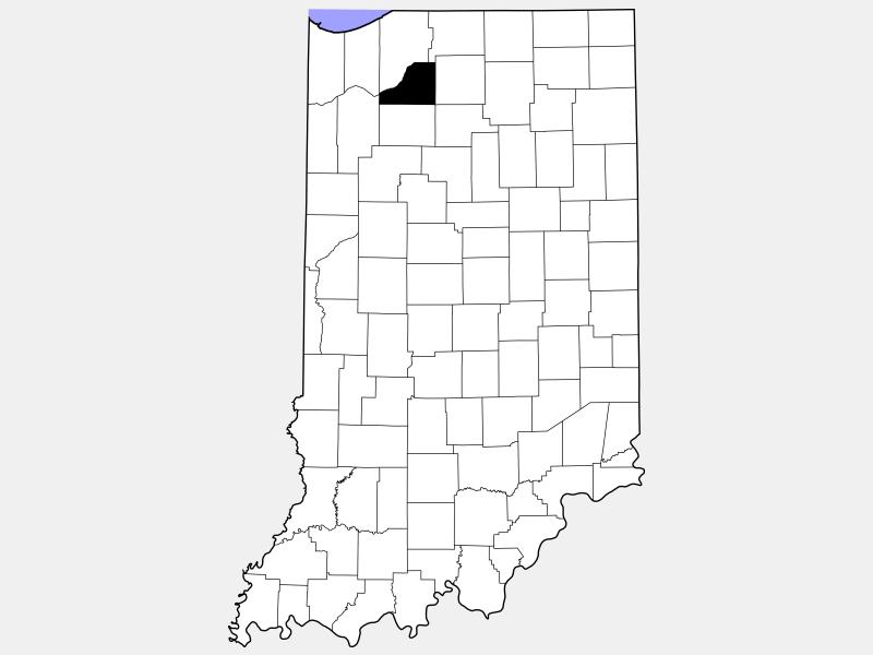 Starke County locator map