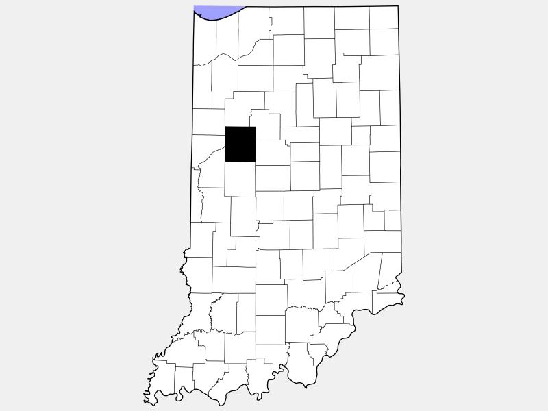 Tippecanoe County locator map