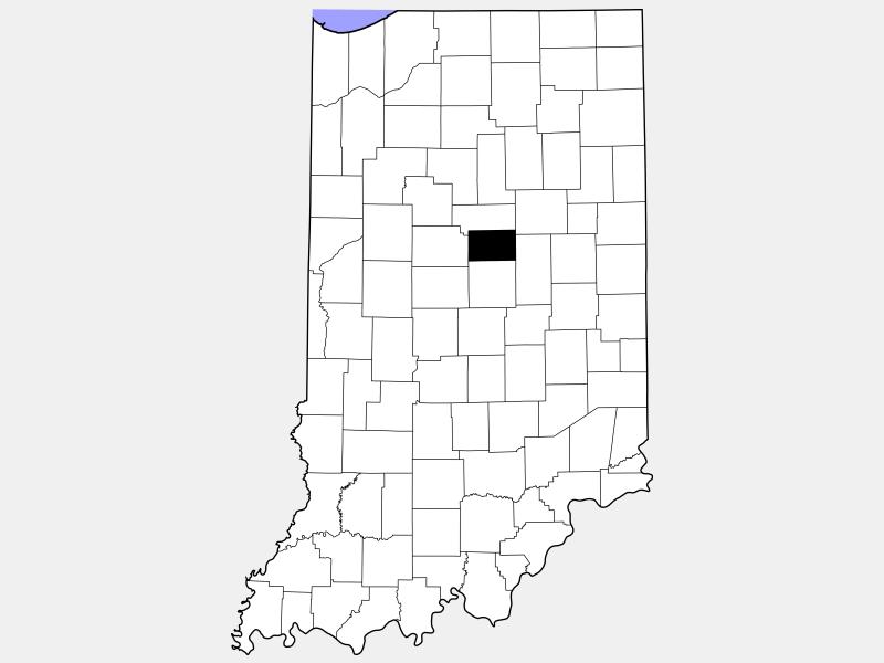 Tipton County locator map
