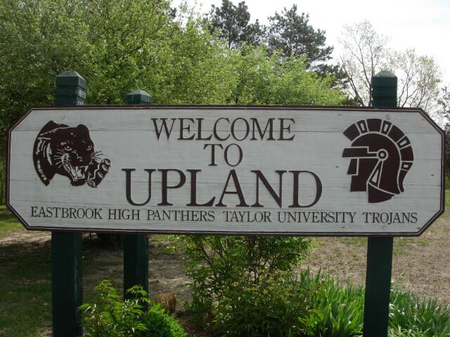 Upland  Indiana welcome sign image