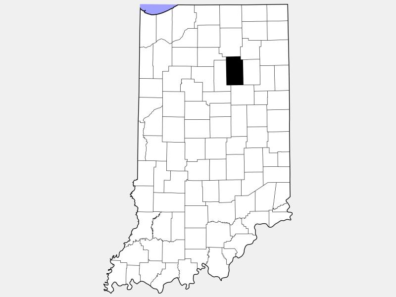 Wabash County locator map