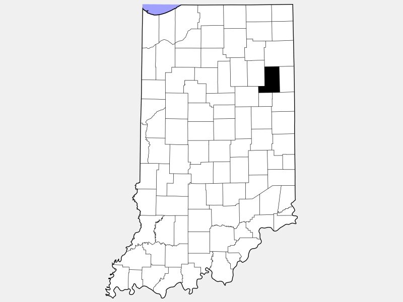 Wells County location map