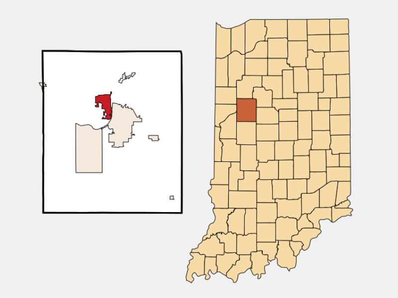 West Lafayette locator map