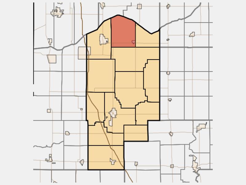 Wheatfield locator map