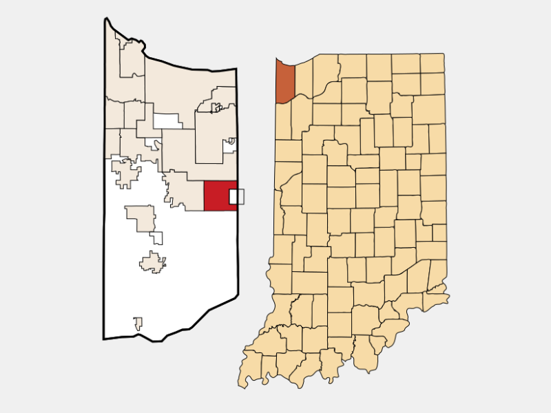 Winfield locator map
