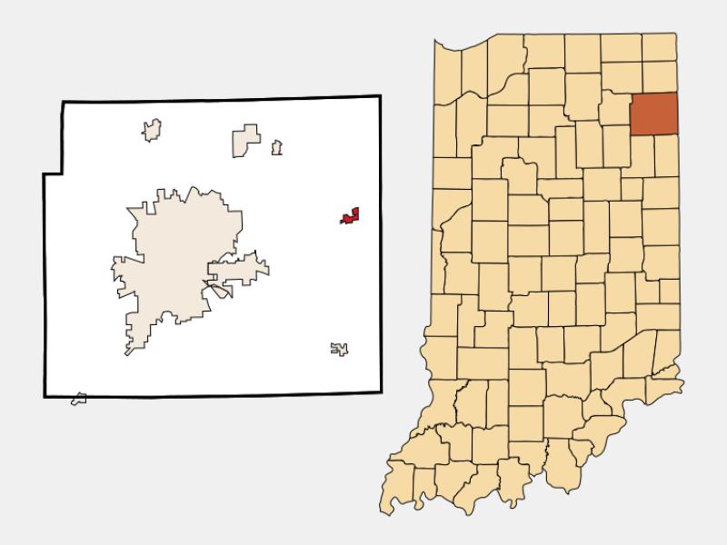 Woodburn locator map