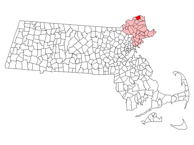 Amesbury locator map