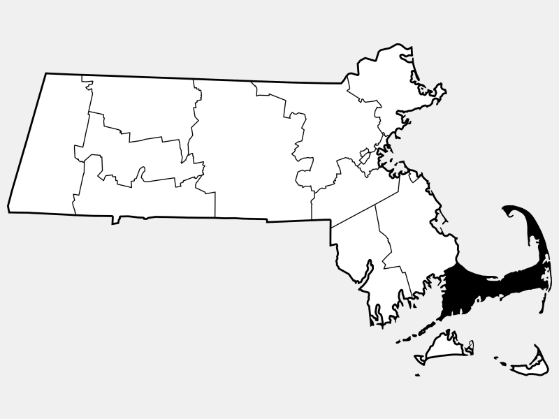 Barnstable County locator map