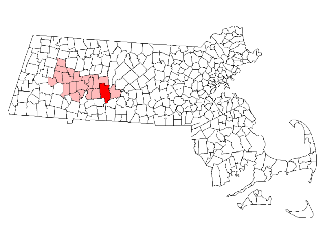 Belchertown location map