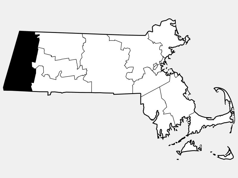 Berkshire County locator map