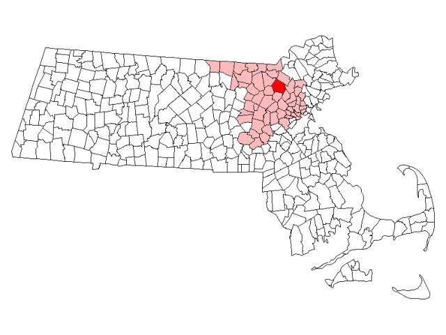 Billerica locator map