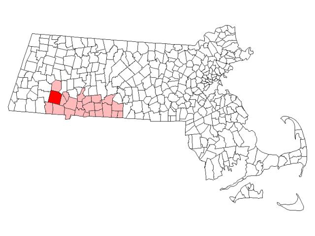 Blandford locator map