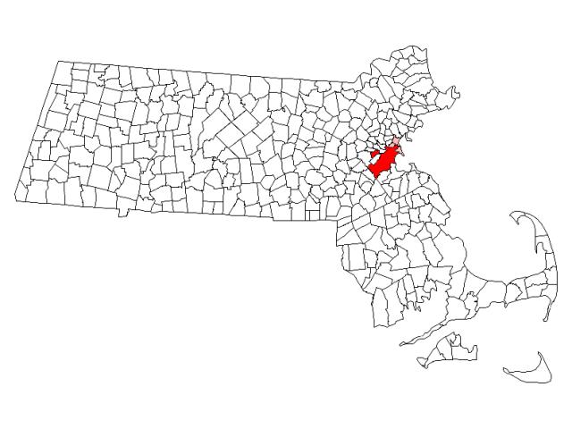 Boston, MA locator map