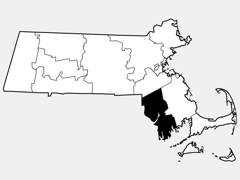 Bristol County locator map
