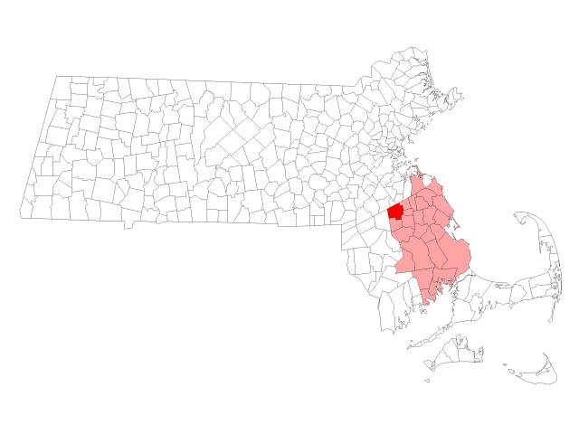 Brockton locator map