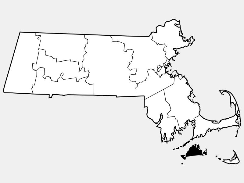Dukes County locator map