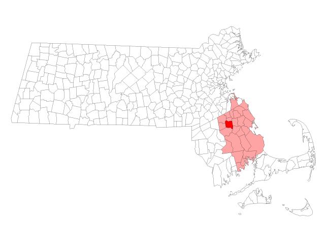 East Bridgewater location map