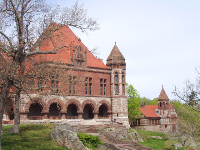 Oakes Ames Memorial Hall and Ames Free Library 'North Easton  MA' image