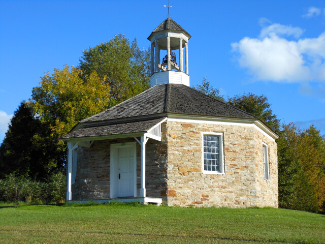 Octagonal Schoolhouse  north-western face image