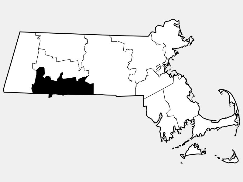 Hampden County locator map