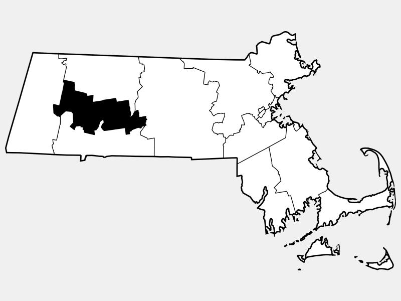Hampshire County locator map