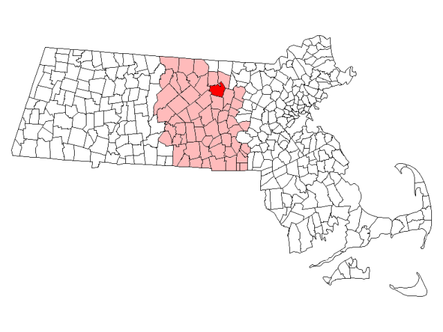 Leominster locator map