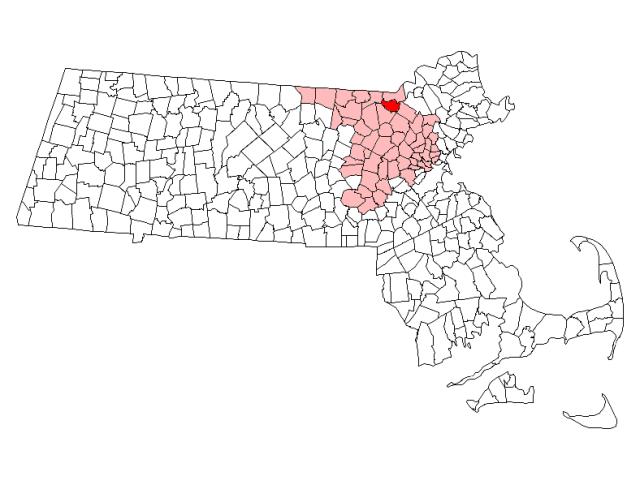 City of Lowell locator map