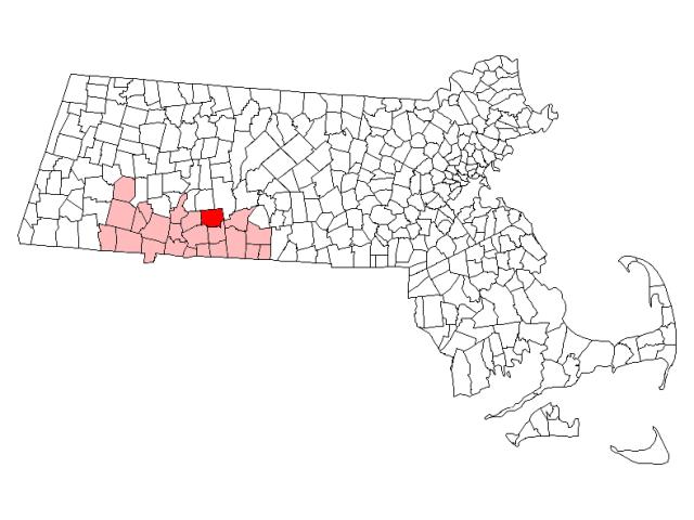 Ludlow locator map