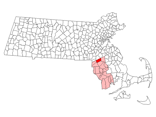 Mansfield locator map